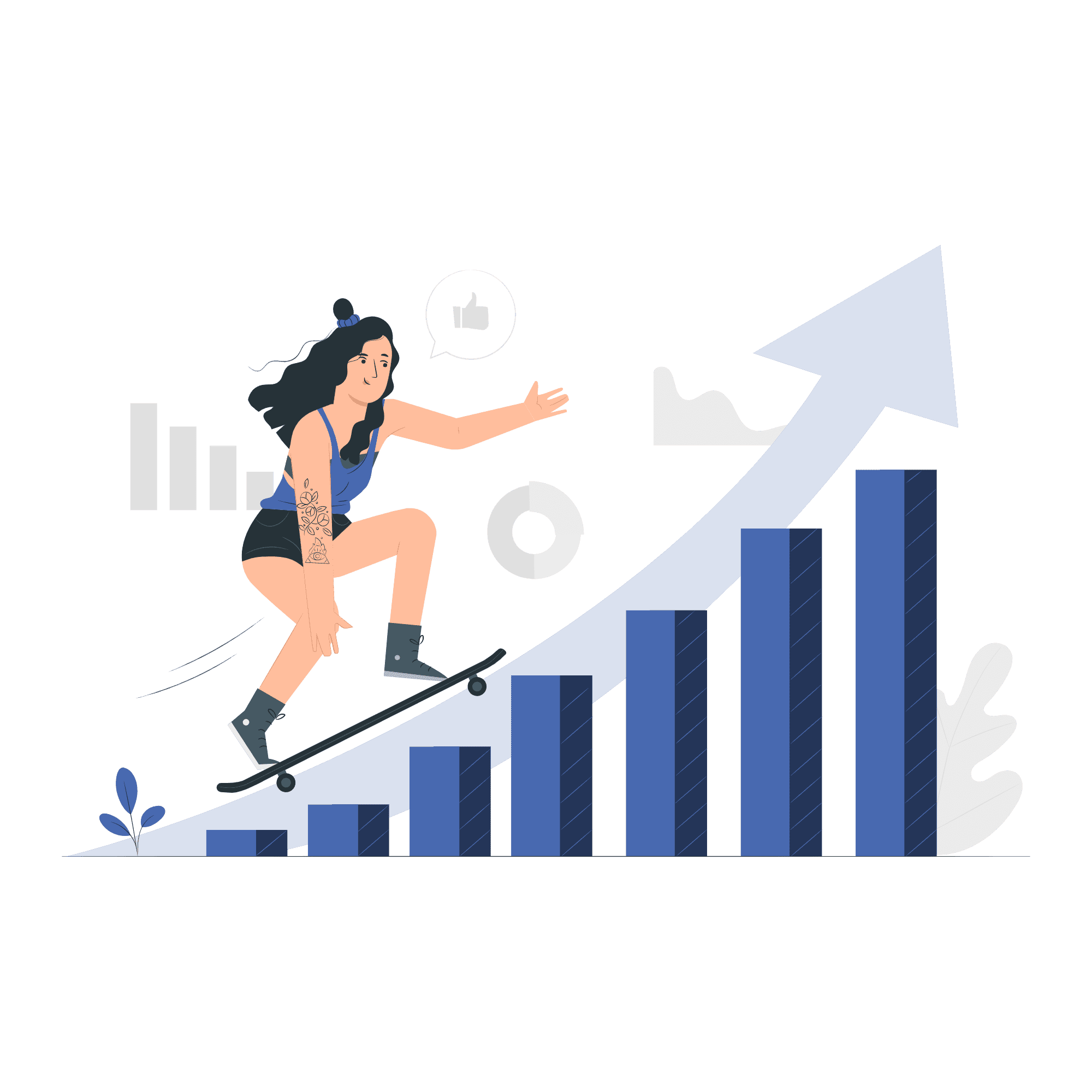 Business Growth Vector Illustration