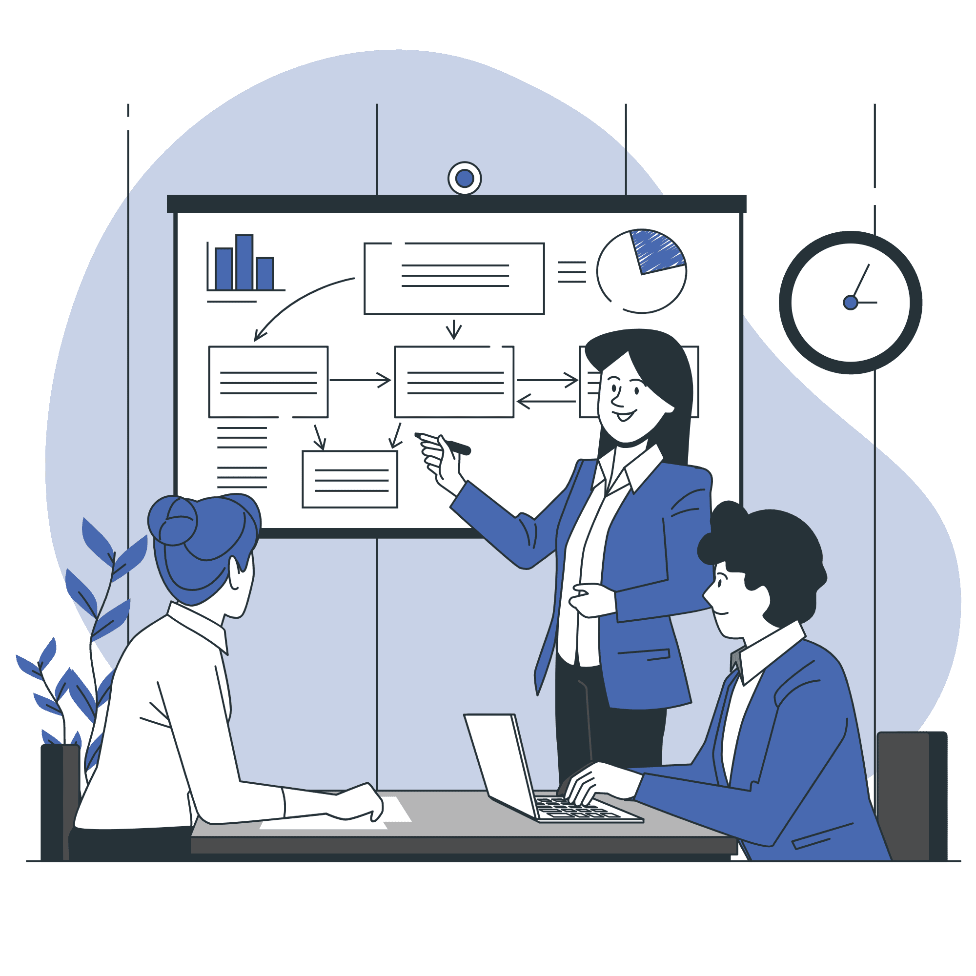 Business consulting vector illustration