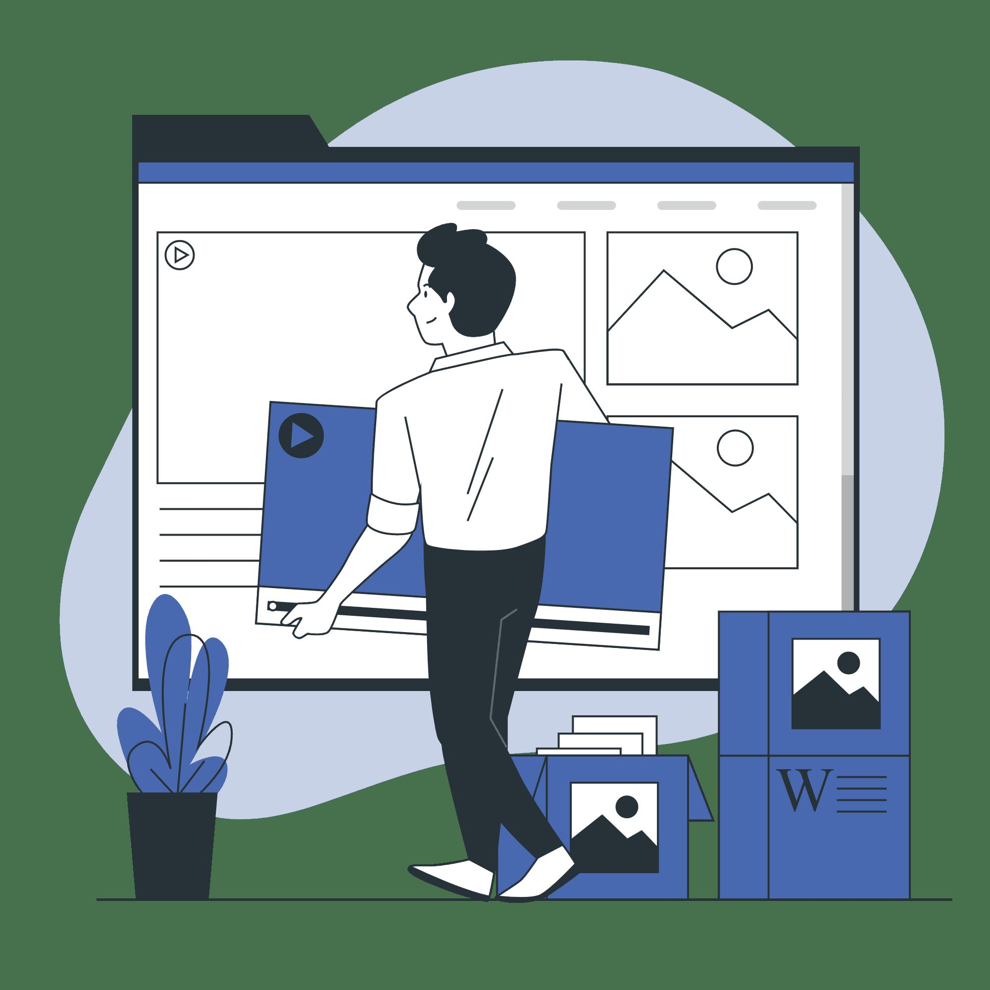 Media review vector illustration