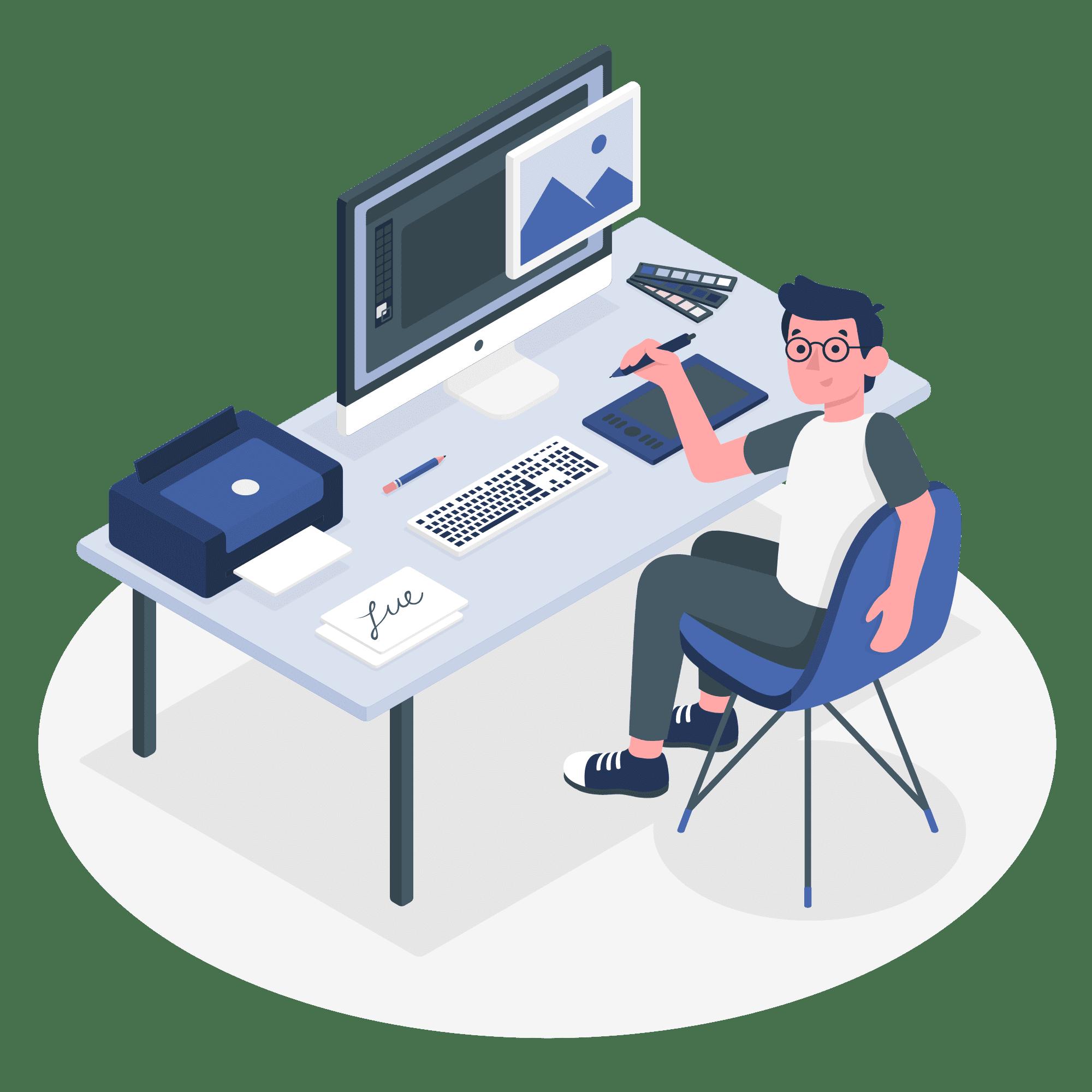 Creative designing vector illustration