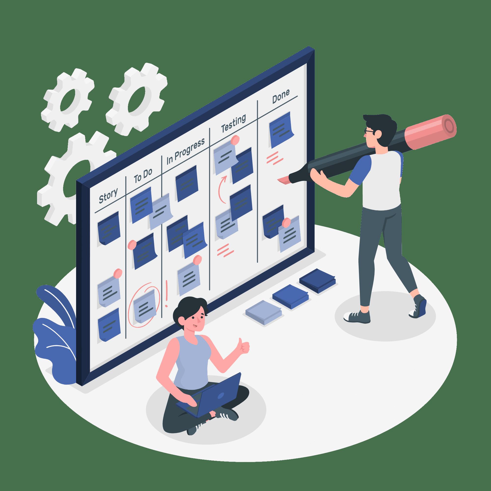 Media planning vector illustration