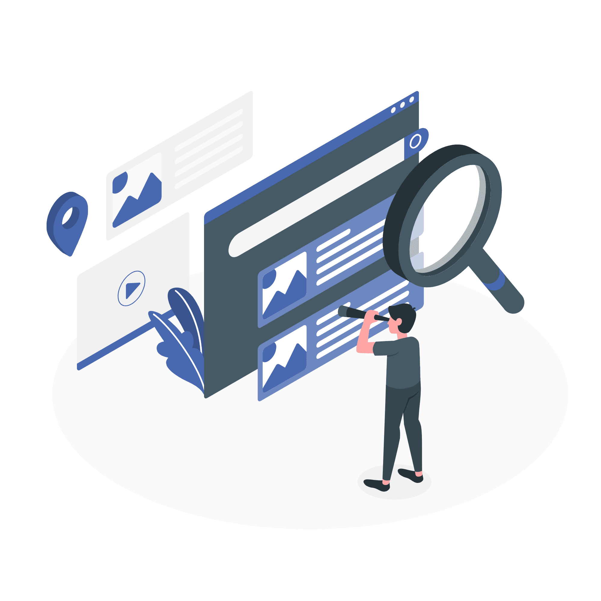 Creative review concept vector illustration