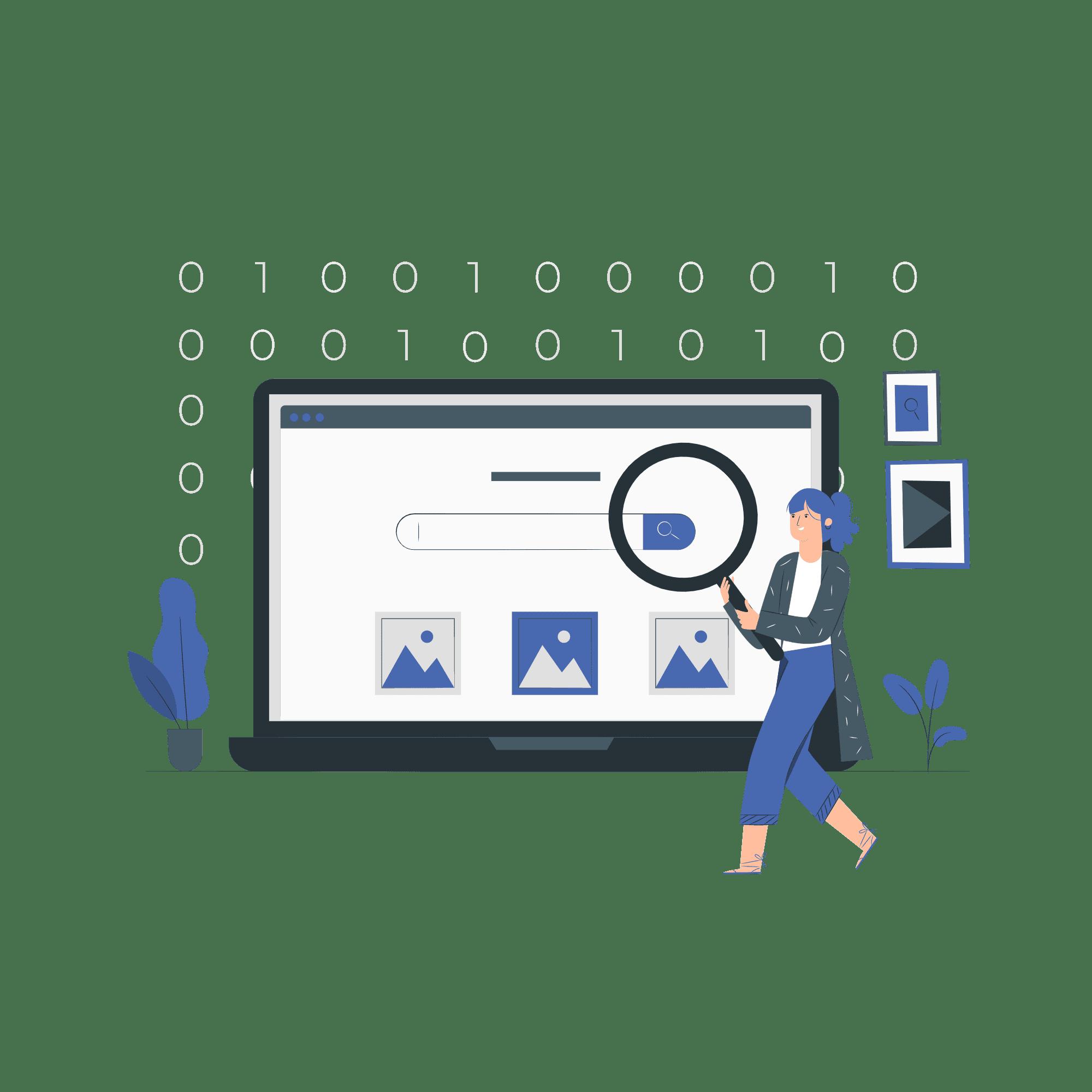 search engine marketing vector illustration